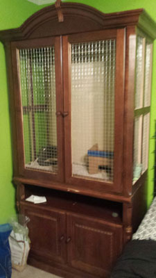 Chinchilla Cage out of an armoire